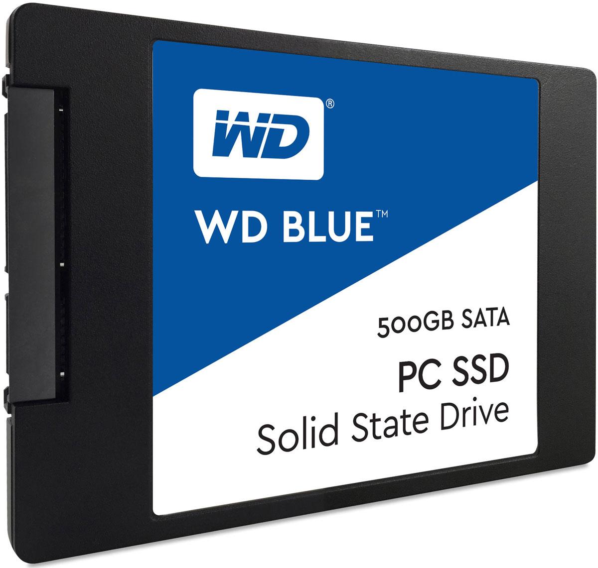 WD Blue 500GB SSD-накопитель (WDS500G1B0A)WDS500G1B0AТвердотельный накопитель WD Blue отличается высоким быстродействием и обеспечивает эффективное хранение данных наряду с высокой скоростью передачи и ведущей в отрасли надежностью.Оптимизированные для параллельного выполнения нескольких задач твердотельные накопители WD Blue позволяют с легкостью запускать несколько ресурсоемких приложений одновременно.Твердотельные накопители WD Blue доступны в формфакторах 2,5 дюйма (7 мм) и M.2 2280 для самых тонких и компактных компьютеров, что позволяет комплектовать ими большинство ноутбуков и настольных ПК. Доступная для скачивания панель мониторинга твердотельных накопителей WD содержит набор инструментов, с помощью которых можно в любой момент проверить работоспособность твердотельного накопителя.Благодаря сертификации WD F.I.T. Lab на совместимость с широким спектром ноутбуков и настольных ПК вы можете быть полностью уверены, что накопитель WD Blue подходит вам идеально.На каждый твердотельный накопитель WD Blue предоставляется 3-летняя ограниченная гарантия, которая застрахует ваш накопитель WD при хранении любых данных.