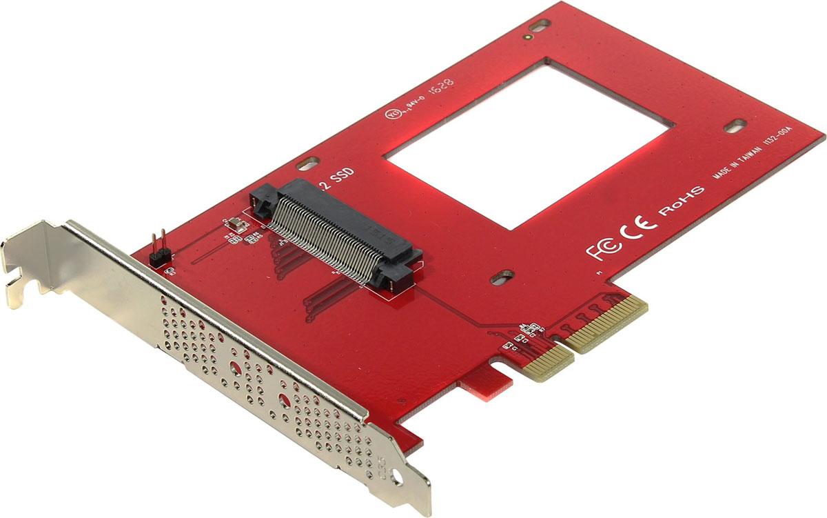 SmartBuy PE-132 переходник-конвертер для NVMe 2.5 U.2 SSD в PCIe 3.0 x4PE-132SmartBuy PE-132 - идеальное решение для геймеров и энтузиастов, а также для людей работающих с тяжелыми графическим, видео софтом.Поможет преобразовать работу вашего 2.5 SSD с высокоскоростным интерфейсом U.2 в интерфейс PCIe 3.0 x4, поддерживаемый большинством материнских плат.