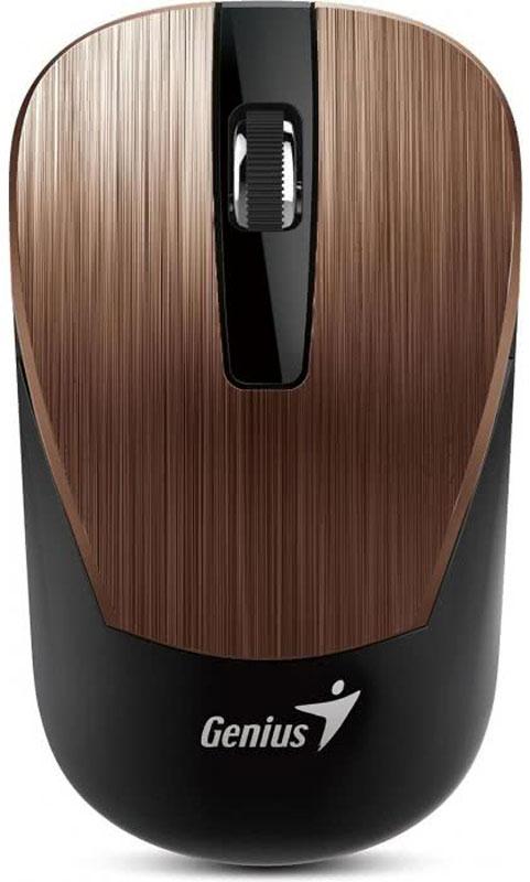 Genius NX-7015, Rosy Brown мышь беспроводная31030119104Мышь Genius NX-7015 подходит как для правой, так и для левой руки.Благодаря четкой форме легко лежит как в правой, так и в левой руке и обеспечивает максимальное удобство на протяжении всего дня.Благодаря технологии BlueEye с разрешением 1600 dpi мышь обеспечивает великолепную точность и работу практически на любом покрытии: на запыленном стекле или мраморе, на диване и даже на ковре.Приемник Genius NX-7015 можно использовать с другими беспроводными мышами Genius серии NX-7000 для дополнительной мобильности. Не придется беспокоиться, если приемник от этой беспроводной серии Genius потеряется.
