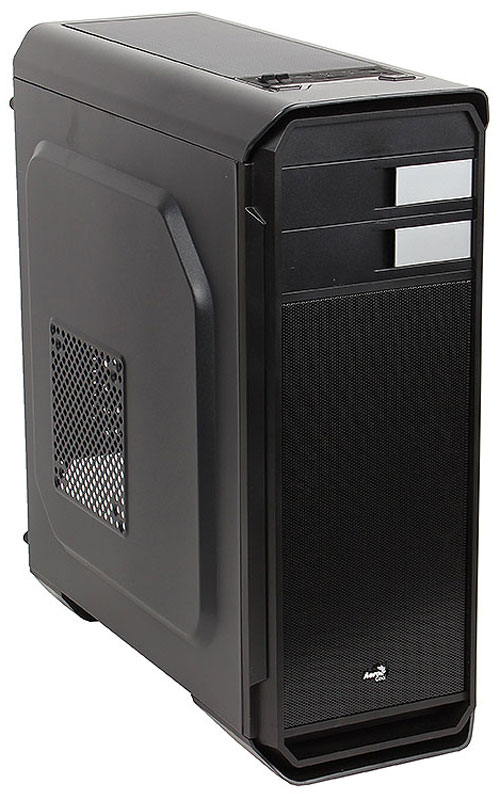 Aerocool Aero-500, Black компьютерный корпус + картридер SD/micro SD4713105955750Компьютерный корпус Aerocool Aero-500 обладает эстетически привлекательным дизайном, лаконичными пропорциональными формами и логичной конструкцией. Относящийся к типу Middle Tower, корпус имеет эргономичную архитектуру. Основные кнопки управления, пуск, сброс, регулятор вентиляторов находятся на верхней панели. Здесь же расположены 3 порта USB, картридер SD/micro SD, разъёмы наушников и микрофона. На тыльной стороне короба установлен вентилятор охлаждения 120 мм диаметром. Если вы захотите поставить водяную систему охлаждения, то с ее установкой не возникнет проблем. С помощью крышки на верхней панели вы без труда сможете установить 240 мм устройство. Aerocool Aero-500 надежно защитит механизмы от частиц пыли благодаря специальным фильтрам, находящихся на блоке питания и в верхней панели. Они быстро снимаются и чистятся.