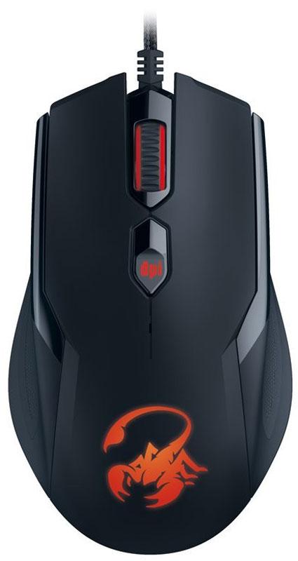 Genius Ammox X1-400, Black мышь игровая31040033104Формы мыши Genius Ammox X1-400 подходит как для правой, так и для левой руки, а удлиненный корпус позволяет удобно расположить руку и предотвращает усталость. Резиновые захваты по обеим сторонам обеспечивают быстроту управления.Вы можете переключаться с одного разрешения на другое (всего имеется четыре уровня разрешения: 400, 800, 1200 и 3200 DPI) одним нажатием кнопки и будете готовы к любым игровым ситуациям.Вы можете программировать собственные макросы и назначить одной кнопке функцию переключения для быстрого доступа к различным игровым функциям.В мыши Ammox используется переключатели Omron, рассчитанные на 8 миллионов нажатий. Этого достаточно даже для самых интенсивных сражений.Испытайте высокую скорость передачи сообщений: 1 мс. Все команды и действия выполняются без задержек.