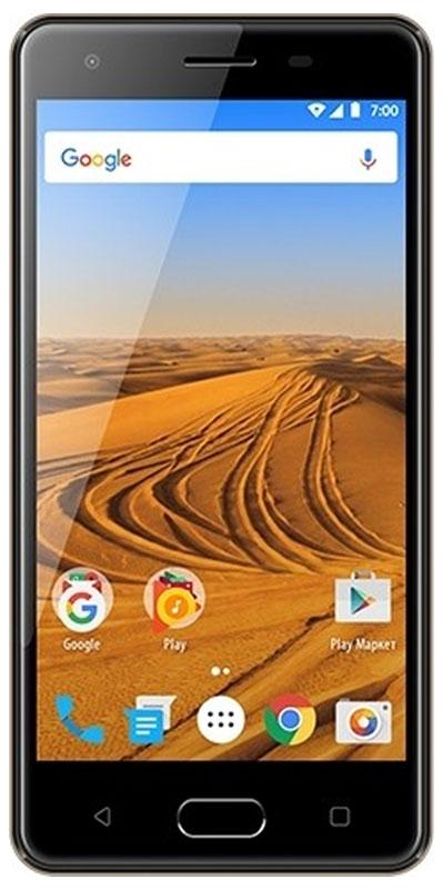 Vertex Impress Dune 4G, GraphiteVDN-GRFСмартфон Vertex Impress Dune - функциональный 4G смартфон с HD дисплеем с технологией On-Cell и кнопкой Home.Смартфон Vertex Impress Dune оснащен большим и ярким IPS дисплеем размером 5 дюймов с разрешением HD и с технологией On-Cell, что дополняет стильный образ смартфона и позволяет максимально комфортно использовать возможности модели. IPS-матрица дисплея обеспечивает широкие углы обзора, а также высокую контрастность изображений и качественную цветопередачу. Эргономичный корпус с закругленными краями обеспечивает удобство использования смартфона при повседневном общении. Благодаря 4-х ядерному процессору модель превосходно справляется с решением повседневных задач. Мощность процессора обеспечивает бесперебойную работу операционной системы и установленных приложений. Смартфон оснащен 1 ГБ оперативной памяти и 8 ГБ встроенной, что позволяет эффективно использовать возможности интерфейса: Интернет, игры, приложения, фото и видеосъемка, электронные книги и прочие дополнительные smart-функции.Наличие двух камер 8 МП и 5 МП дает возможность делать фото, снимать видео, совершать видеозвонки, общаться в Skype. Дополнительные преимущества основной камеры: светодиодная вспышка.Для того, чтобы вы смогли всегда оставаться на связи модель Impress Dune поддерживает работу двух SIM-карт, активных в режиме ожидания. Благодаря этому можно использовать возможности сразу двух операторов связи так, как удобно вам.Смартфон оснащен датчиками освещенности, приближения и акселерометром. Поддерживает smart-функции ОС. Обновление ПО происходит по воздуху.Смартфон получил новейшую операционную систему Android 7.0 Nougat. Новая ОС стала еще более функциональной и удобной для пользователя. В Android 7.0 появляется ряд дополнительных возможностей и режимов работы, в большей степени ориентированных на пользователя. Смартфон Impress Dune поддерживает высокоскоростной 4G интернет, что обеспечивает быструю передачу данных. Благодаря доступу к сетям LTE веб-