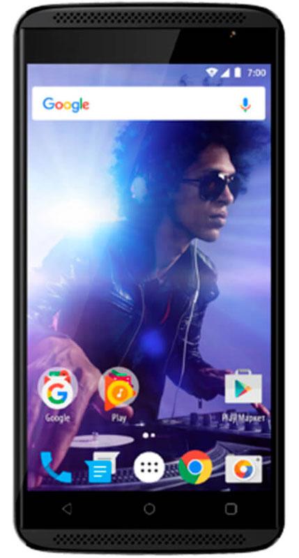 Vertex Impress Groove, BlackVGRF-BLKСмартфон Vertex Impress Groove - музыкальный 3G смартфон с 3D звуком в стильном корпусе.Смартфон Vertex Impress Groove оснащен двумя фронтальными динамиками для великолепного объемного звука! Теперь любимая музыка еще громче! Отличный 3D звук без колонок и усилителей - все это смартфон Impress Groove.Яркий IPS дисплей дополняет стильный образ смартфона и позволяет максимально комфортно использовать возможности модели: просмотр сериалов и фильмов, фотографий, видео, чтение книг, общение с друзьями. Благодаря двум фронтальным динамикам вам доступен просмотр любимых фильмов и сериалов на максимальной громкости.Смартфон оснащен 4-х ядерным процессором, благодаря чему Vertex Impress Groove отлично подходит для решения различных повседневных задач. Мощность процессора обеспечивает бесперебойную и качественную работу операционной системы и установленных приложений. Смартфон имеет 1 ГБ оперативной памяти и 8 ГБ встроенной, что позволяет использовать стандартные функции максимально эффективно: Интернет, игры, приложения, фото и видео съемка, электронные книги и прочие дополнительные smart-функции. Для повышения работоспособности смартфона и увеличения объема памяти можно использовать microSD карты емкостью до 32 ГБ.Смартфон получил новейшую операционную систему Android 7.0 Nougat. Новая ОС стала еще более функциональной и удобной для пользователя. В Android 7.0 появляется ряд дополнительных возможностей и режимов работы, в большей степени ориентированных на пользователя. Операционная система Android 7.0 и сервис Google Play предлагает огромный выбор приложений на любой вкус. Игры, любимая музыка, социальные сети, навигационные карты, фото приложения и многое другое.Наличие двух камер 8 МП и 2 МП дает возможность делать фото, снимать видео, совершать видеозвонки, общаться в Skype и т.д. Дополнительные преимущества основной камеры: светодиодная вспышка.Для того, чтобы вы смогли всегда оставаться на связи модель Impress Groove поддерживает ра
