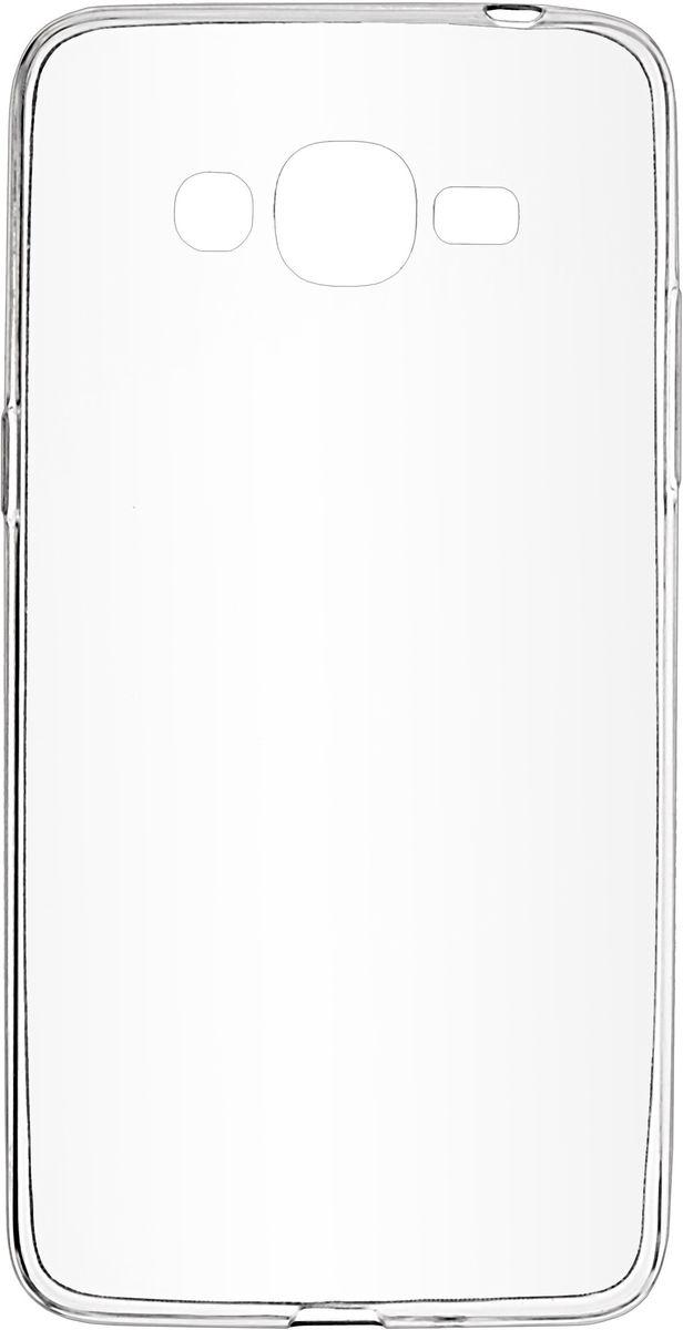 Skinbox Slim Silicone чехол-накладка для Samsung Galaxy J2 Prime, Transparent2000000122717Чехол надежно защищает ваш смартфон от внешних воздействий, грязи, пыли, брызг. Он также поможет при ударах и падениях, не позволив образоваться на корпусе царапинам и потертостям. Чехол обеспечивает свободный доступ ко всем функциональным кнопкам смартфона и камере.