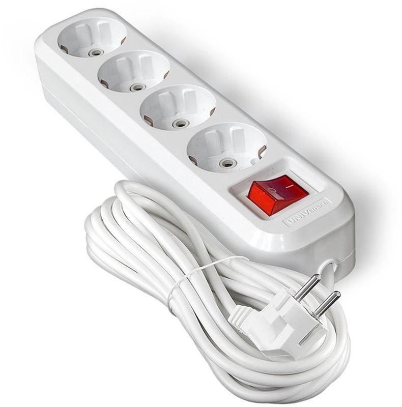 Удлинитель UNIVersal, с заземлением, с выключаталем, 4 розетки, 7 м9631992