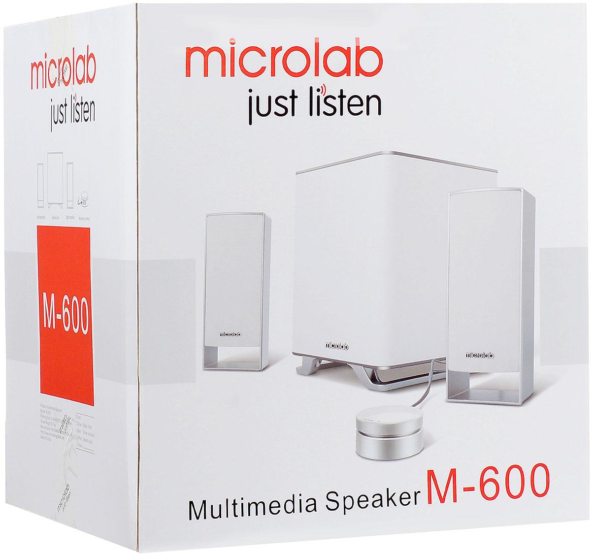 Microlab M-600 2. 1, Whiteакустическая система Microlab