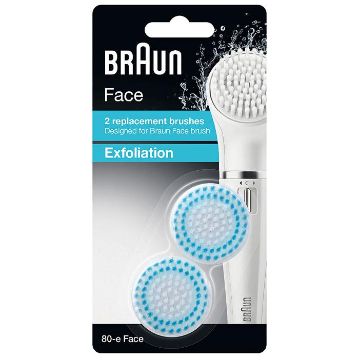 Braun Face SE80e, White Blueсменная насадка щеточка отшелушивающая (2 шт. ) Braun