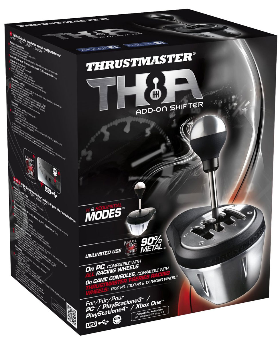 Thrustmaster TH8A Shifter Add-On, Blackкоробка передач Thrustmaster