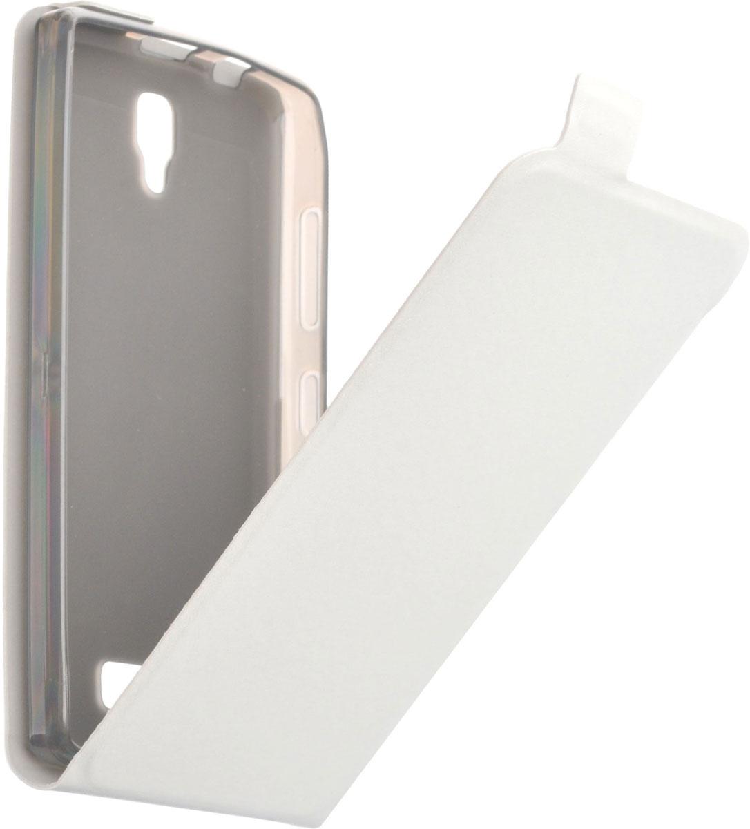 Skinbox Flip slimчехол для Lenovo A2010, White Skinbox
