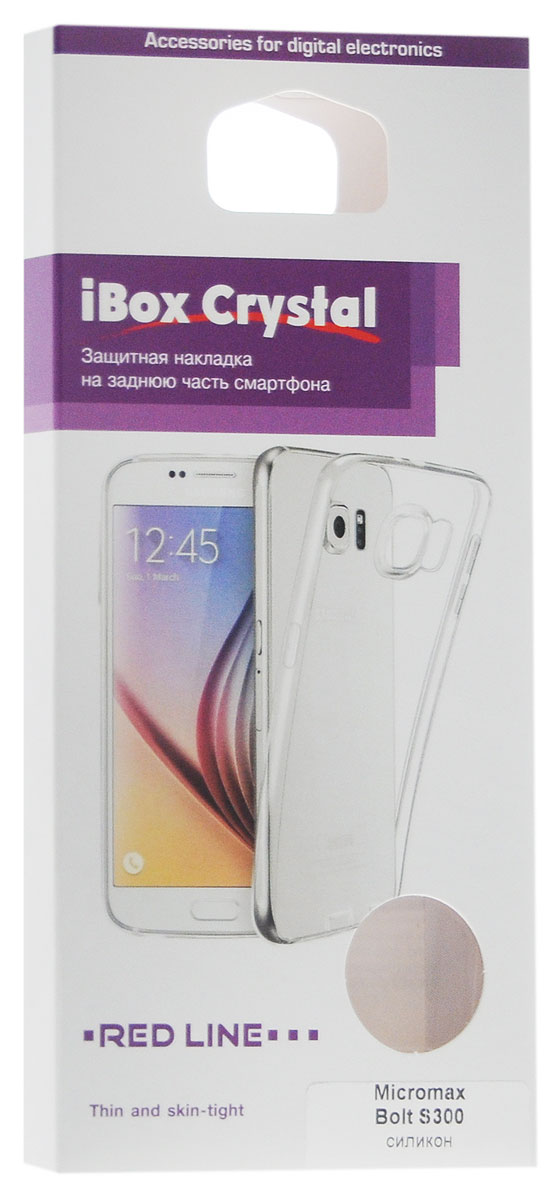 Red Line iBox Crystalчехол для Micromax Bolt S300, Clear Red Line