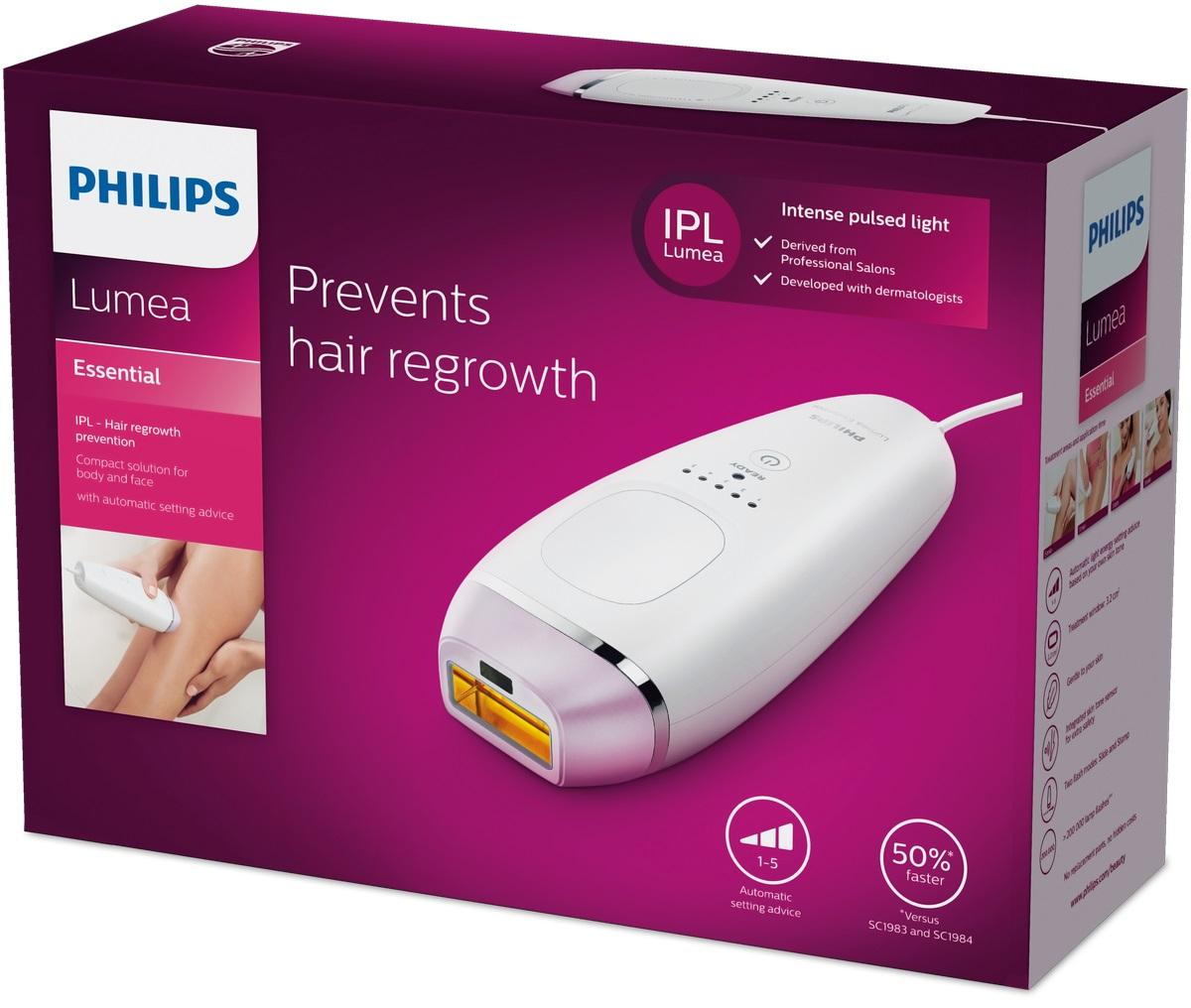 Компактный фотоэпилятор Philips Lumea Essentia  BRI863/00  для быстрой процедуры на теле и лице Philips