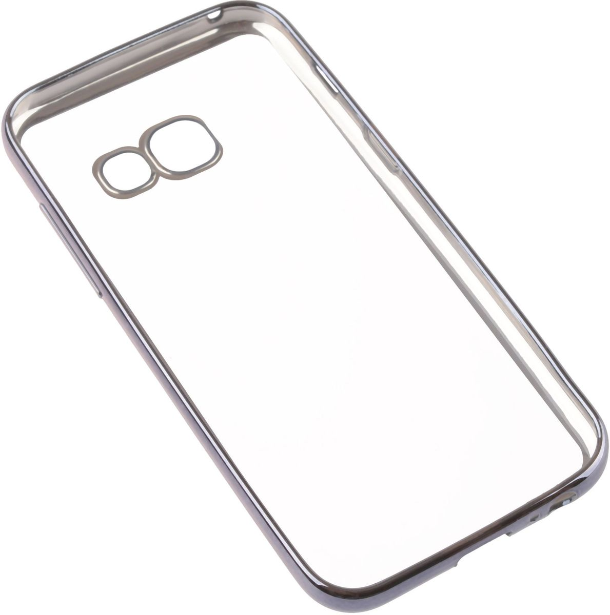 Skinbox 4People Silicone Chrome Borderчехол для Samsung Galaxy A3 (2017), Dark Silver Skinbox