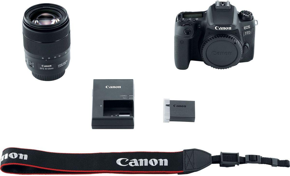 Canon EOS 77D Kit 18-135 IS USMцифровая зеркальная фотокамера Canon