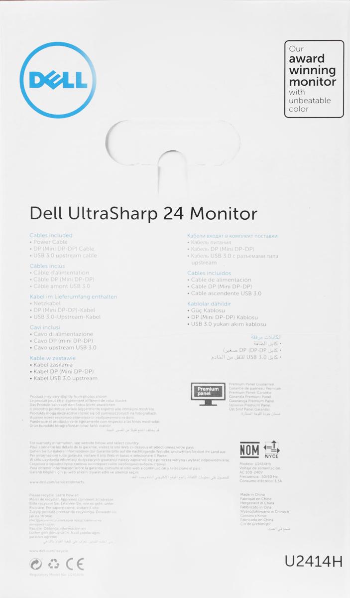 Dell UltraSharp U2414H, Blackмонитор Dell