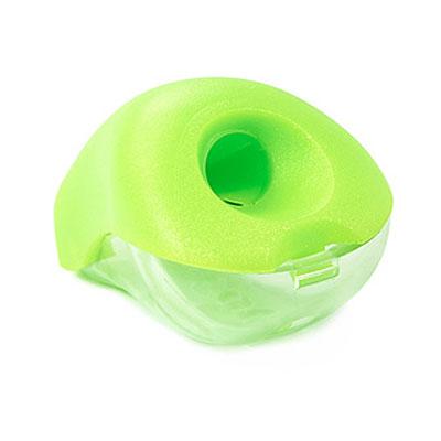 Яркая и компактная точилка Bulbo с мини-контейнером легко поместиться в любой пенал. Характеристики: Размер: 3 см x 4,5 см x 3 см. Материал: пластик, металл. Изготовитель: Китай.