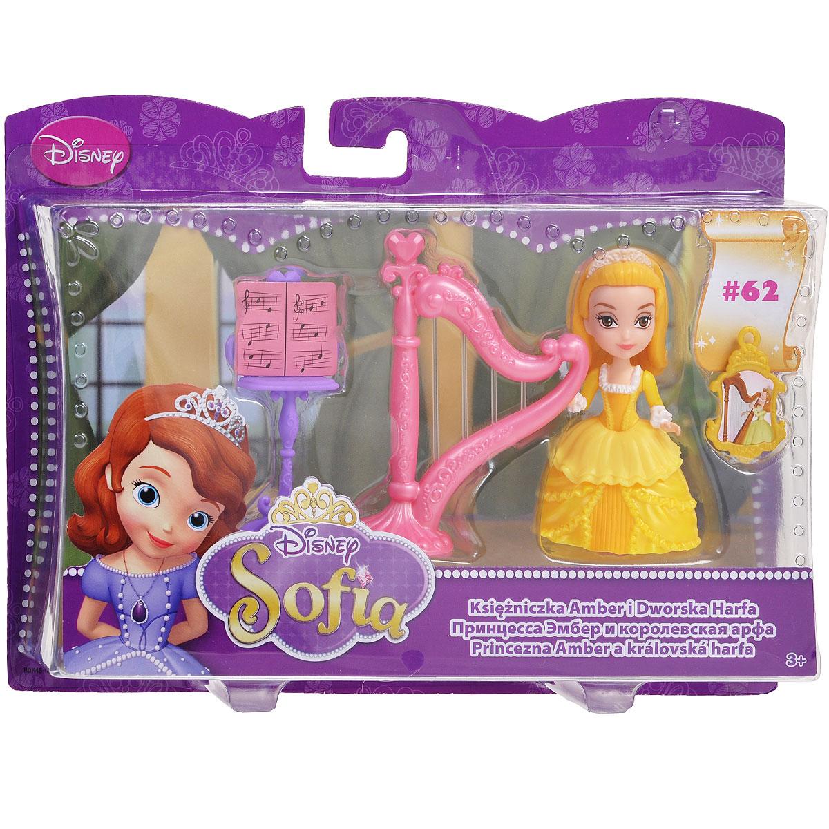 Sofia the FirstИгровой набор с мини-куклой Принцесса Эмбер и королевская арфа