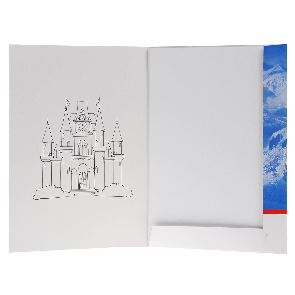 Картон Hatber Замок в горах позволит вашему ребенку создавать всевозможные аппликации и поделки. Набор состоит из десяти листов картона белого цвета с полуглянцевым покрытием формата А3. Картон упакован в оригинальную картонную папку, оформленную рисунком с изображением замка в горах. Создание поделок из картона поможет ребенку в развитии творческих способностей, кроме того, это увлекательный досуг.   Рекомендуемый возраст от 6 лет.