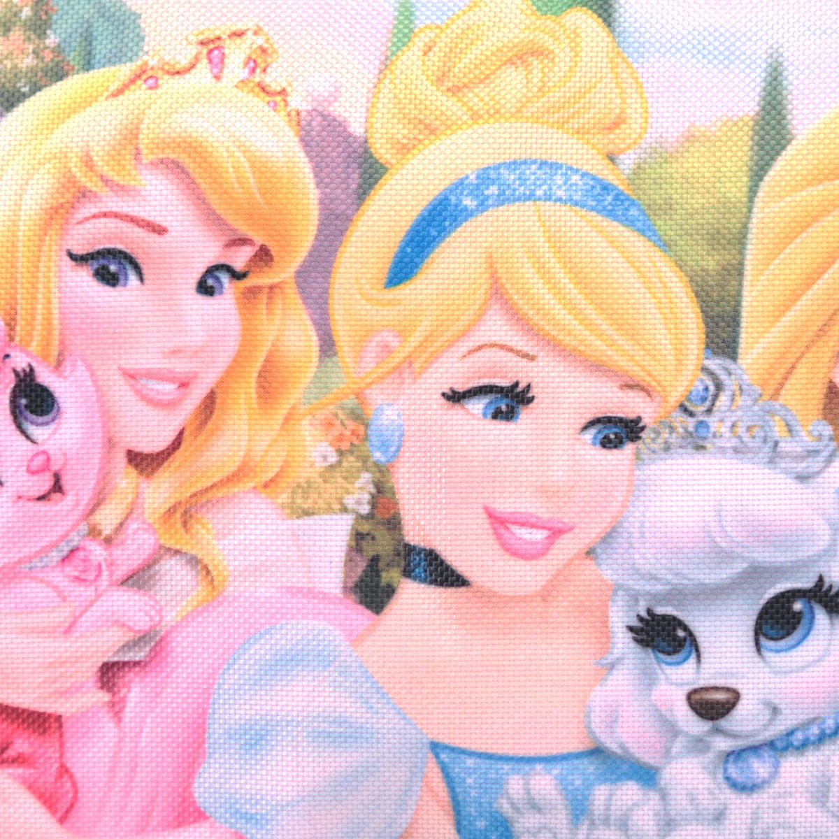Детская сумочка Princess - это модный аксессуар для юной поклонницы популярного мультсериала . Сумочка выполнена из прочного материала ярко-розового цвета и оформлена с лицевой стороны аппликацией из полиэстера с изображением трех принцесс. Сумочка содержит компактное одно отделение и закрывается с помощью застежки-молнии. Сумочка оснащена ручкой для переноски в руке. Высота ручки 17 см.  Порадуйте свою малышку таким замечательным подарком!   Предназначено для детей 7-10 лет.