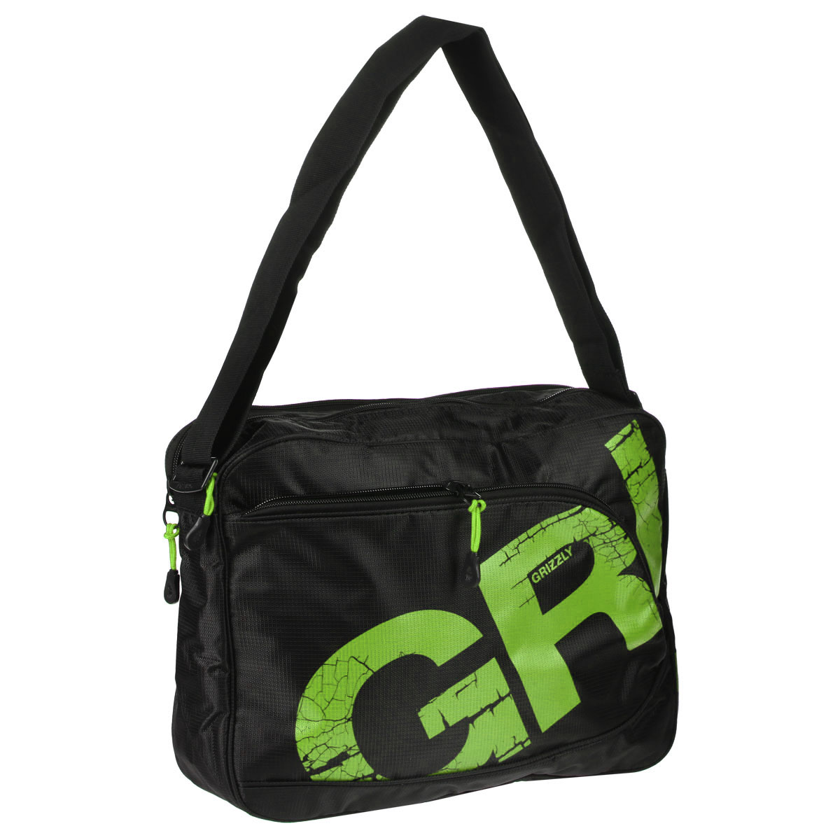 Молодежная сумка с двумя отделениями, застегивающимися на молнии. На сумке имеются множество карманов, на передней и задней стенках и внутри сумки. Имеется регулируемый ремень и ручка для переноски.