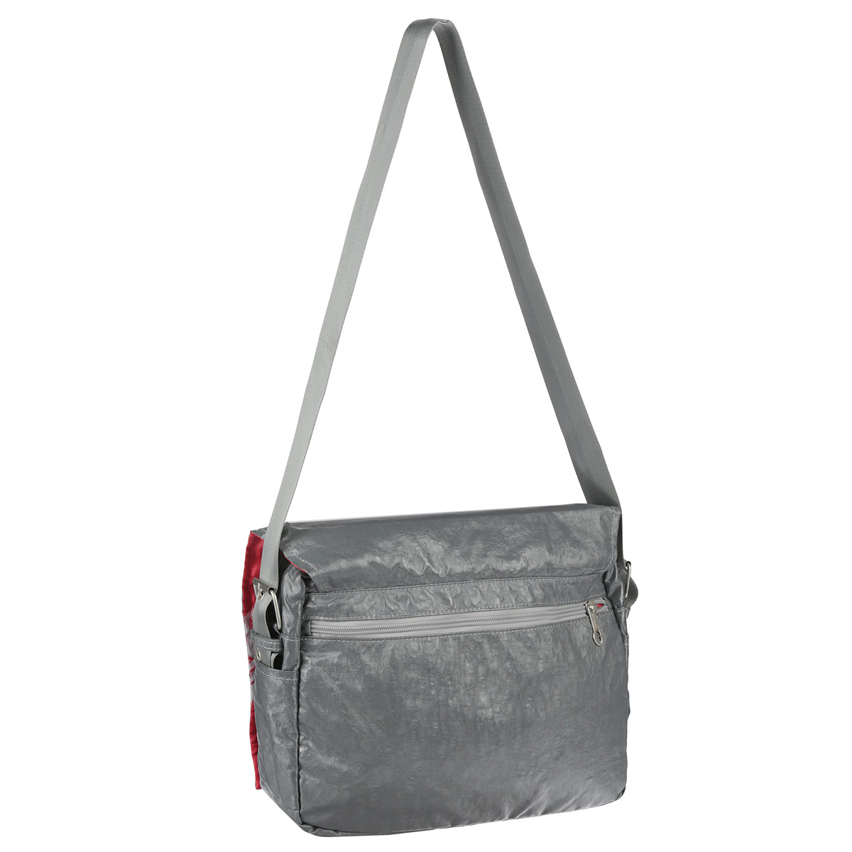 Молодежная сумка с двумя отделениями, с плоским карманом на передней стенке, внутренним карманом для документов и карманом-пеналом, с регулируемым плечевым ремнем