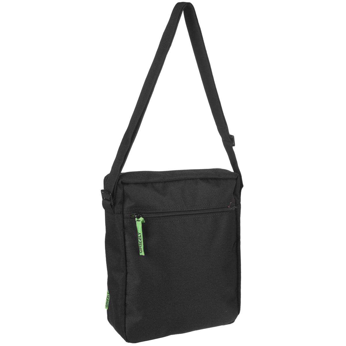 Молодежная сумка с одним отделением, с плоским карманом на передней и задней стенке, внутренним карманом для документов , с регулируемым плечевым ремнем