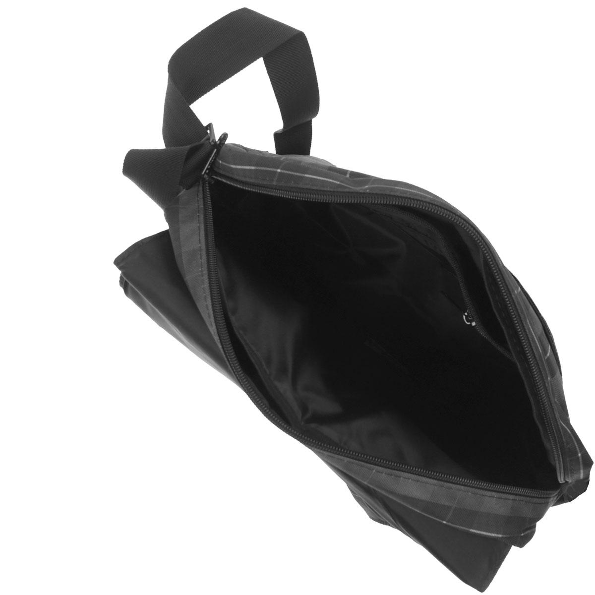 Сумка молодежная с клапаном, с передним, задним и  внутренними карманами, кармашком для планшета и регулируемым ремнем.