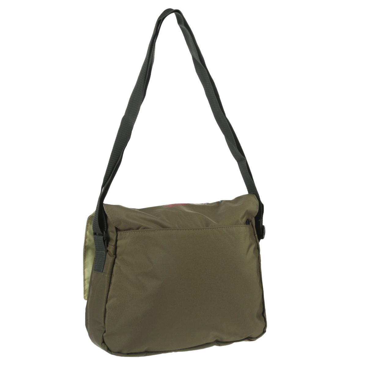 Молодежная сумка с двумя отделениями, клапаном, плоскими карманами на передней и задней стенках, внутренним карманом, с регулируемым плечевым ремнем