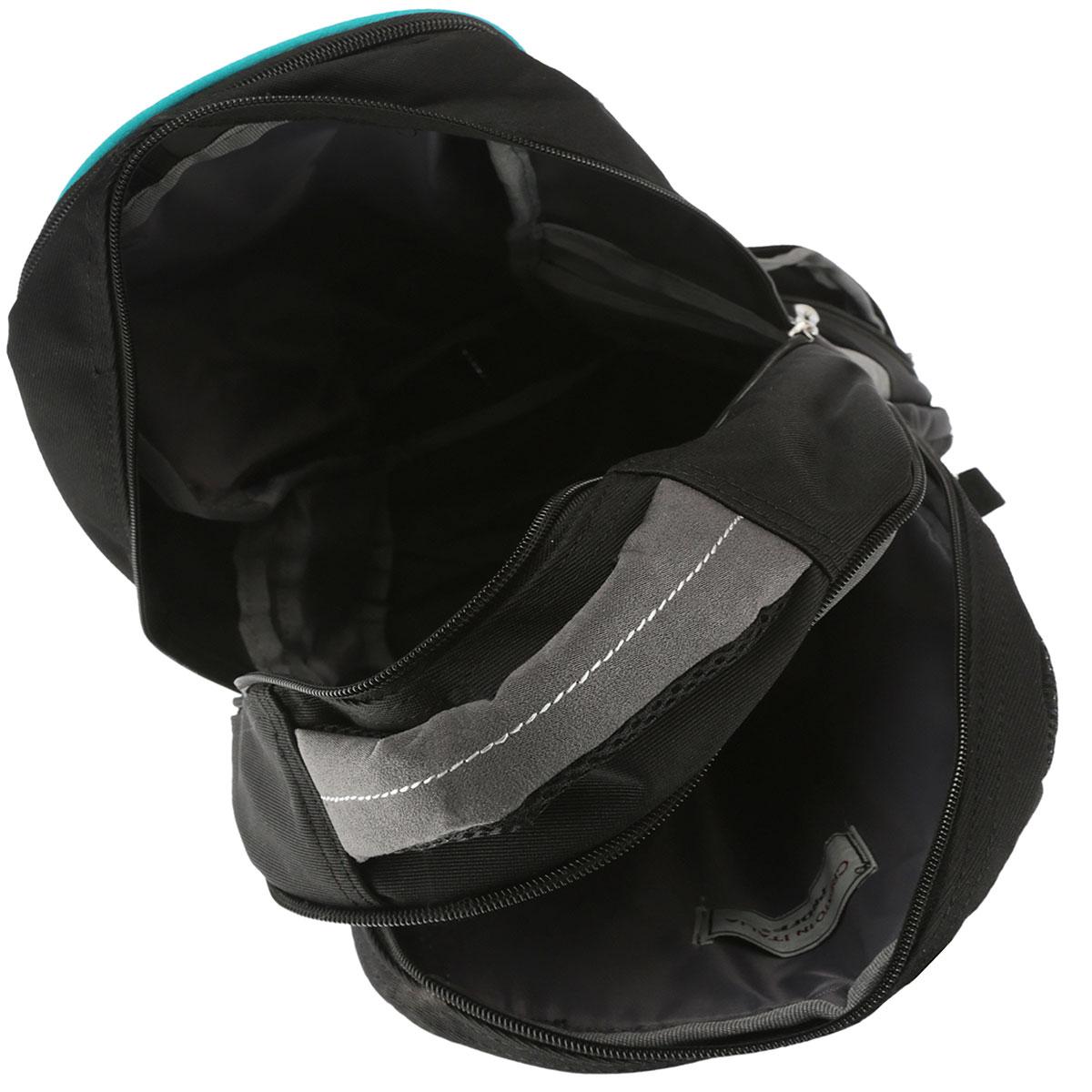 Рюкзак молодежный Proff Largo сочетает в себе современный дизайн, функциональность и долговечность.Онвыполнен из водонепроницаемого, морозоустойчивого материла черного, серого и голубого цветов. Рюкзак состоит из двух вместительных отделений, закрывающихся на застежки-молнии. Изделие имеет два накладныхбоковых кармана, закрывающиеся на молнии. Конструкция спинки дополнена двумя эргономичными подушечками ипротивоскользящей сеточкой для предотвращения запотевания спины. Мягкие широкие лямки позволяют легко ибыстро отрегулировать рюкзак в соответствии с ростом. Рюкзак оснащен удобной текстильной ручкой дляпереноски в руке.Этот рюкзак можно использовать для повседневных прогулок, отдыха и спорта, а также какэлемент вашего имиджа.