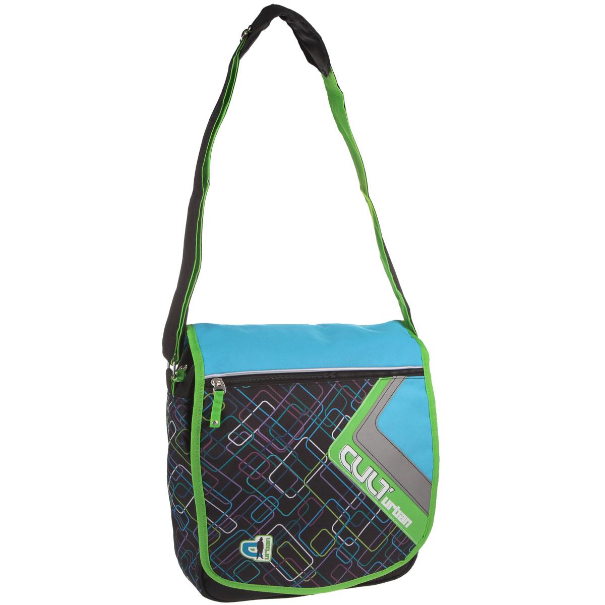 Оригинальная молодежная сумка Erich Krause Urban прекрасно подойдет для учебы, занятий спортом и повседневных дел. Стильная, легкая и удобная сумка с ярким принтом станет незаменимым аксессуаром. Вместительное внутреннее отделение закрывается на молнию и клапан с липучками, в него поместятся все необходимые школьные принадлежности или спортивная форма. Внутри имеется врезной карман на молнии, куда можно разместить предметы небольшого размера. Под клапаном сумка дополнена несколькими карманами: большой врезной карман на молнии, маленький накладной кармашек также на молнии, отделение для телефона, закрывающееся на хлястик с липучкой и два отделения для пишущих принадлежностей. На клапане имеется вместительный карман на застежке-молнии. С задней стороны сумки расположен врезной карман на молнии. Плотная и широкая лямка с подвижным уплотнителем свободно регулируется по длине, что позволяет носить сумку школьникам разного возраста. Лаконичный и сдержанный дизайн подчеркнет индивидуальность и порадует своей функциональностью.