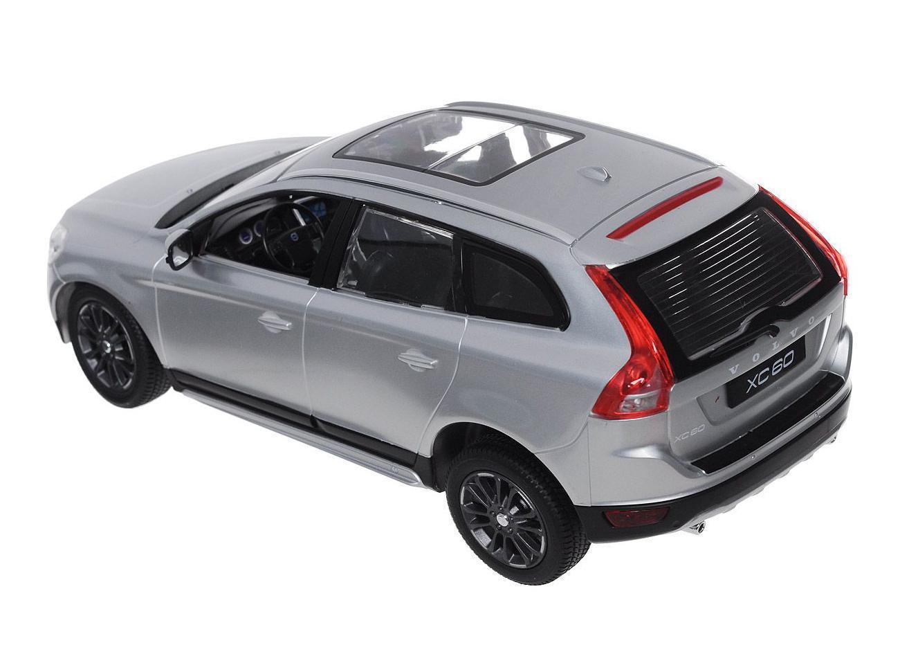 Радиоуправляемая модель автомобиля Rastar Volvo XC60 в точности повторяет настоящий автомобиль в масштабе 1:14. Легко управляется: назад-вперед, влево-вправо, включающиеся передние и задние фары, дальность управления 15-30 метров, развиваемая скорость 7-12 км/час.