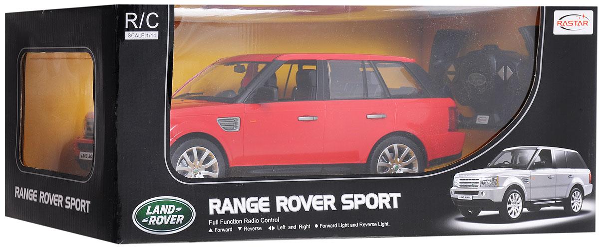 """Радиоуправляемая модель Rastar """"Range Rover Sport"""" станет отличным подарком любому мальчику! Все дети хотят иметь в наборе своих игрушек ослепительные, невероятные и крутые автомобили на радиоуправлении. Тем более, если это автомобиль известной марки с проработкой всех деталей, удивляющий приятным качеством и видом. Одной из таких моделей является автомобиль на радиоуправлении Rastar """"Range Rover Sport"""". Это точная копия настоящего авто в масштабе 1:14. Возможные движения: вперед, назад, вправо, влево, остановка. Имеются световые эффекты. Пульт управления работает на частоте 27 MHz. Для работы игрушки необходимы 5 батареек типа АА (не входят в комплект). Для работы пульта управления необходима 1 батарейка 9V типа """"Крона"""" (не входит в комплект)."""