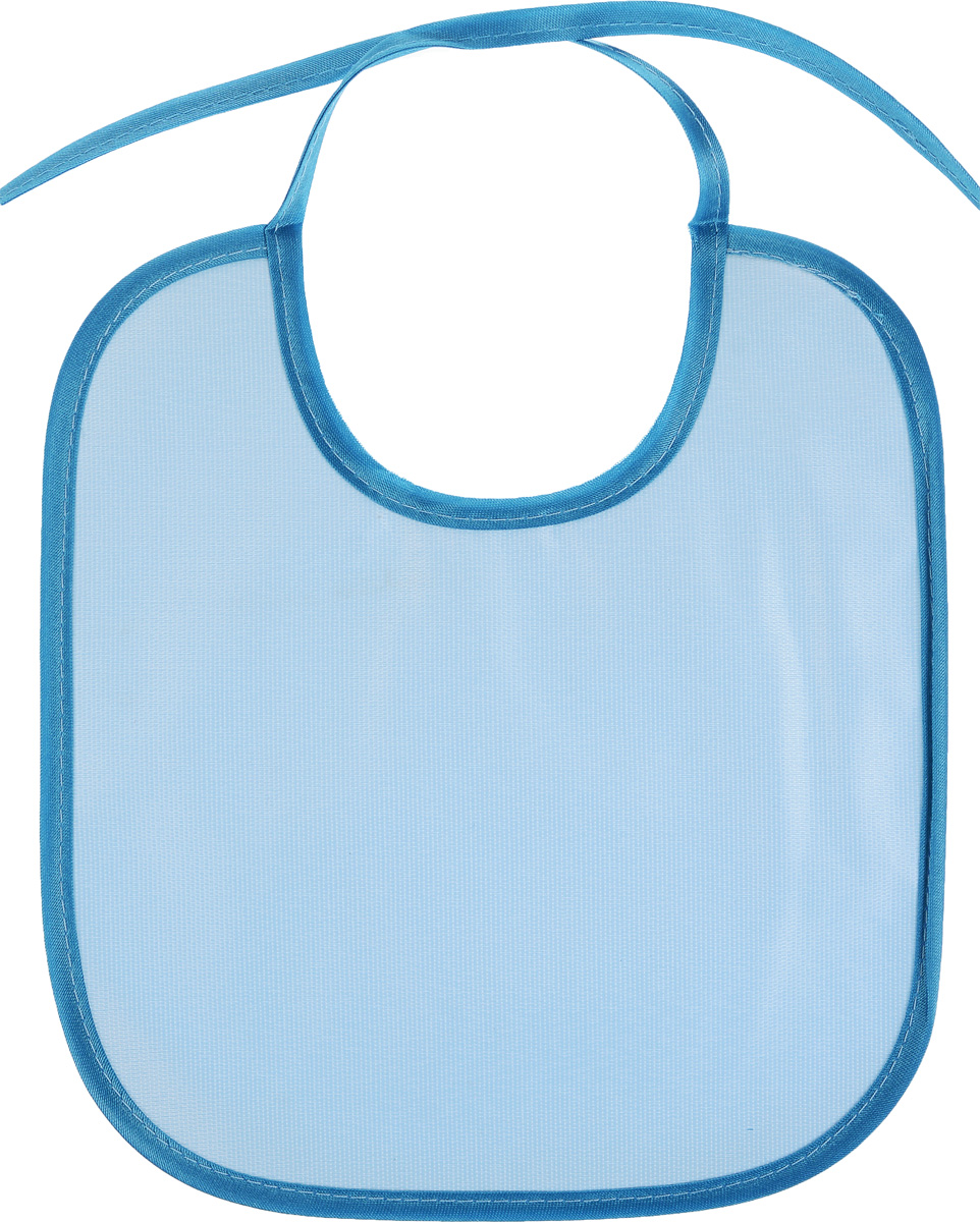 Колорит Нагрудник цвет голубой синий 20 см х 22 см