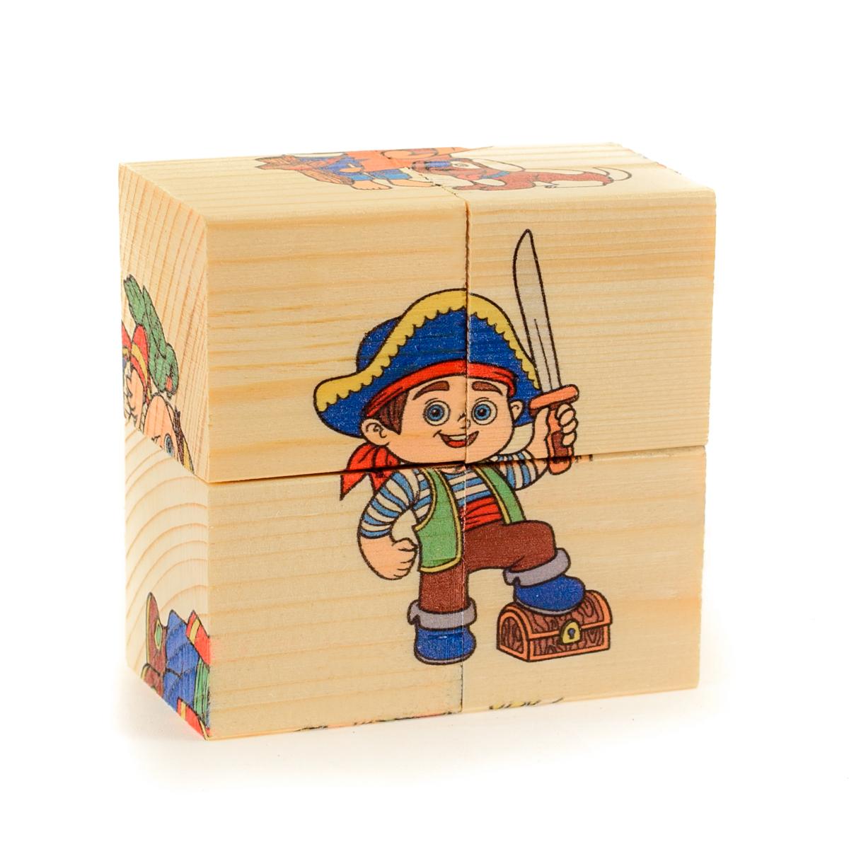 Кубики детские деревянные картинки