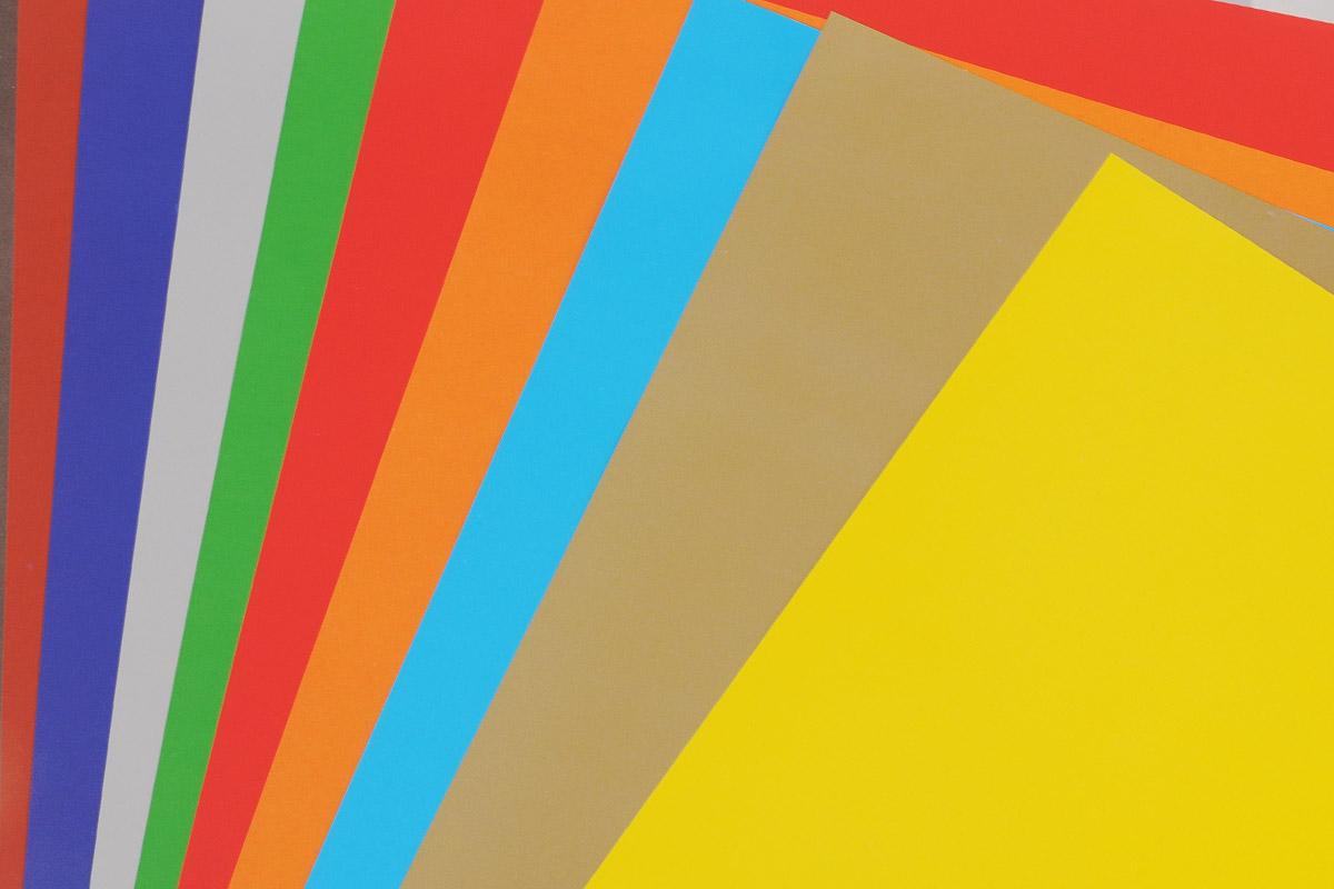 Набор цветной мелованной бумаги Hatber Lovely Toys позволит создавать всевозможные аппликации и поделки. Набор состоит из десяти листов односторонней цветной бумаги формата А4 десяти цветов: оранжевого, голубого, красного, зеленого, оливкового, серого, синего, коричневого, желтого и черного цветов. Создание поделок из цветной бумаги позволяет ребенку развивать творческие способности, кроме того, это увлекательный досуг. Набор упакован в картонную папку с изображением мягкой игрушки.