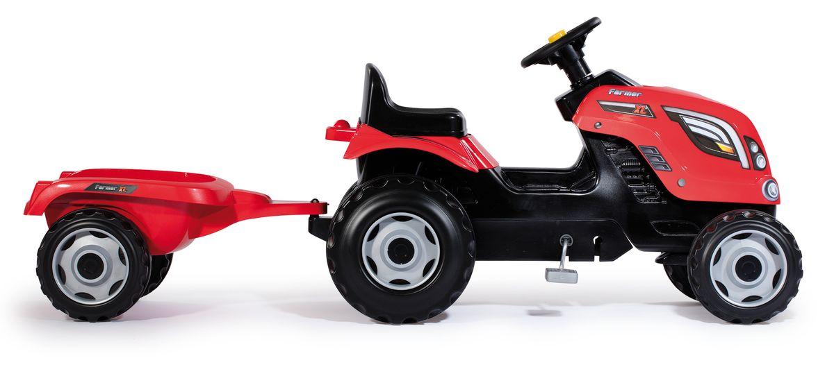 SmobyТрактор педальный Farmer XL с прицепом цвет красный Smoby
