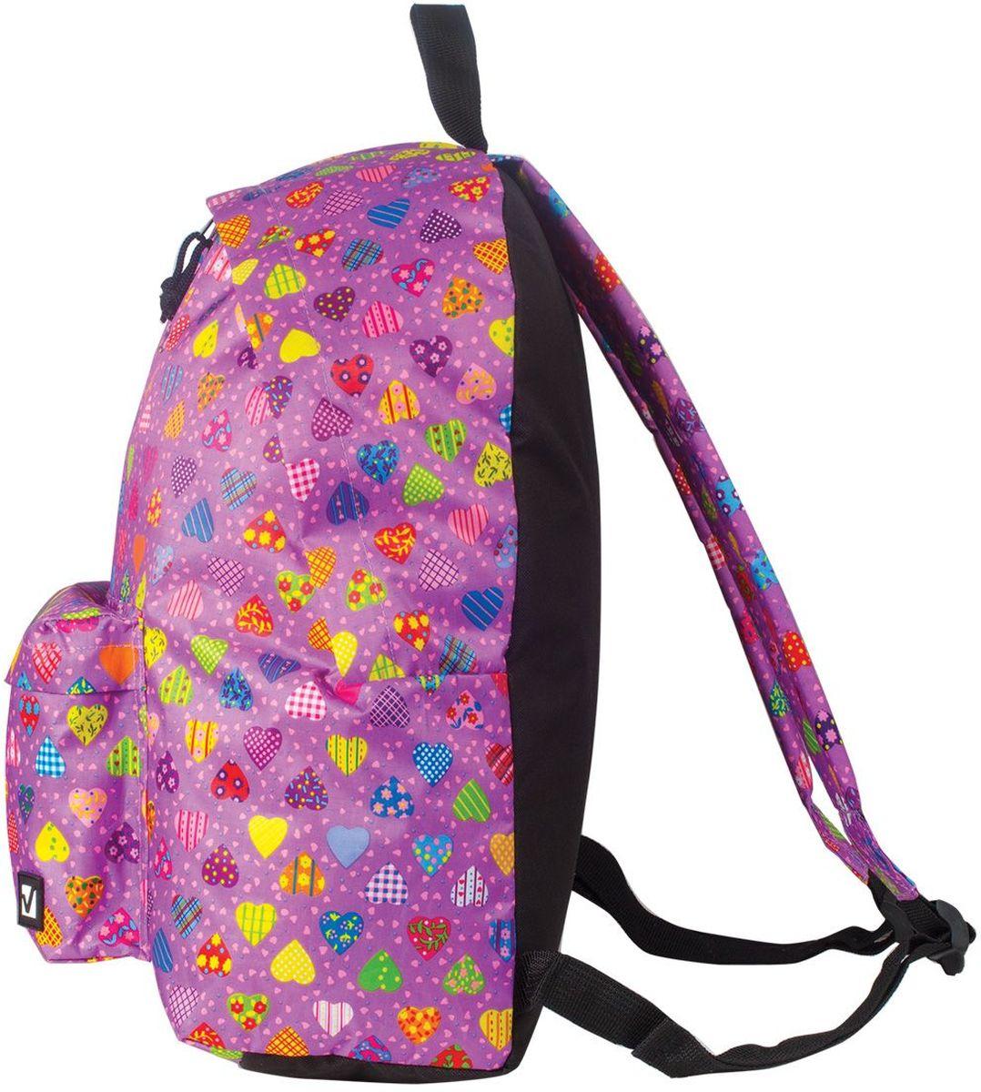 Рюкзак Сердечки предназначен для учеников старших классов и студентов. Надежный рюкзак со стильным дизайном подчеркнет индивидуальность, а неизменная функциональность великолепно проявит себя в любой ситуации.•1 отделение, 1 карман. •Водоотталкивающая ткань. •Широкие регулируемые лямки. •Материал - рипстоп. •Увеличенный объем. •Размер: 43*34*15 см. •Объем: 23 л. •Вес: 0,37 кг.