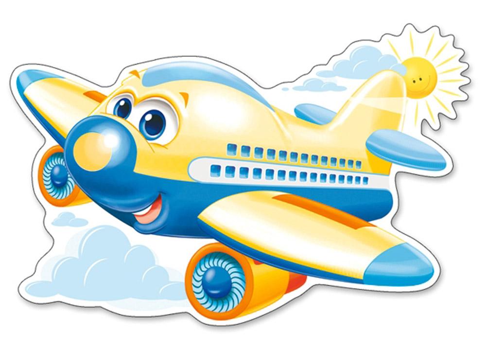 Днем рождения, картинка веселого самолетика