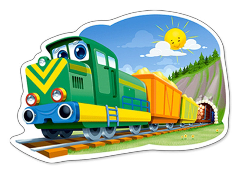 Картинки с веселыми паровозами
