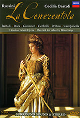 Cecilia Bartoli both thrills the senses and touches the heart in Rossini's sparkling comedy, her feisty Cinderella combining rebelliousness with pathos, vocal beauty with stunning virtuosity. She and a star cast of Italian principals captivate the Houston audience in this exuberant Bologna production, recorded live in November 1995.