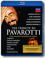The Tribute To Pavarotti: One Amazing Weekend In Petra (Blu-ray) celine dion through the eyes of the world blu ray