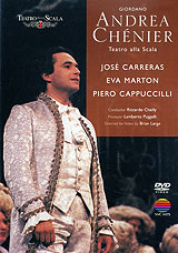 Set in Paris immediately before and during the French Revolution, Andrea Chenier is Giordano's passionate and most successful opera. Jose Carreras stars in the title role as the idealistic poet of the French Revolution, and Maddalena, the object of Chenier's adoration, is portrayed by Hungarian soprano Eva Marton. A servant-turned-revolutionary, Gerard, also loves Maddalena, and when he is elevated to the revolutionary court, he wreaks his revenge against Chenier who is condemned to death - Maddalena joins him in his cell and they go to the guillotine together.Gerard, torn between political and amorous loyalties, is the Italian baritone Piera Cappuccilli. Act I - A Winter Evening, 1789, At The Chateau De CoignyAct II - An Afternoon In June 1794, In ParisAct III - A Revolutionary Court Roon Some Weeks LaterAct IV - Courtyard Of The Prison