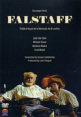 Falstaff was Verdi's last opera and the climax of his career. Completed in 1893, when the composer was almost eighty, it is also the culmination of Italian comic opera. Librettist Arrigo Boito took the substance of the piece from Shakespeare's The Merry Wives of Windsor, but the central character, who embroils himself in numerous plots and dupes of love and marriage until eventually the Merry Wives get their revenge on him, is much closer to the Falstaff of Henry IV. The jokes are at the expense not of a buffoon but of a whole man, boisterous and roguish but with an underlying streak of melancholy. In this Theatre Royal de la Monnaie de Bruxelles production, recorded during the 1987 Aix-en-Provence Festival, the title role is sung by bass-baritone Jose Van Dam, a genuine actor as well as a consummate singer, as the role demands.