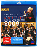 Barenboim Daniel, Wiener Philharmoniker: New Year's Concert 2009 (Blu-ray) the berlin concert domingo netrebko villazon blu ray