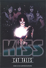 Shot live from captivity, the Catman will have your tongue as he relates behind the scenes tales with the band, and unveils secrets about his infamous days with Kiss!! The silver-nosed tomcat also sheds light on many long time rumors and questions surrounding the band. Also see Kiss in the dressing room, preparing for a show, as well as ultra rare
