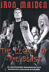 Often imitated - but never matched, Britain's greatest heavy metal group Iron Maiden are arguably the best rock outfit in the world. With over 25 years in the business, and a string of number one albums and singles under their belts, they are truly the stuff of legend. On 'Iron Maiden: The Legacy of the Beast' we go behind the music to discover what it took for this unlikely group of headbangers to remainKings of the Metal Scene for over two decades (and counting!). Packed with interviews, this documentary tells the story of how it allhappened.  The complete and unauthorised biography of Iron Maiden.   Over 60 minutes of in-depth interviews with past and present band members including Paul Di' Anno and Dennis Stratton.  Rare band footage interspersed throughout the programme.  Fascinating research reveals a side of Iron Maiden never seen before.