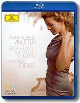 Anne-Sophie Mutter / Lambert Orkis: Brahms - The Violin Sonatas (Blu-ray) elton john the million dollar piano blu ray