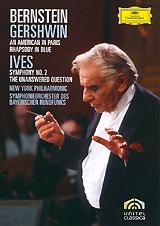 Gershwin, Leonard Bernstein: An American In Paris Rhapsody In Blue / Ives, Leonard Bernstein: Symphony No. 2 The Unanswered Question (2 DVD) a c bernstein yours mine