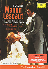 James Levine conducts Renata Scotto and Placido Domingo in the Metropolitan Opera's 1980 production of Puccini's early masterpiece, a performance of