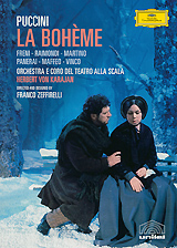 In the early 1960s two artistic giants, conductor Herbert von Karajan and director Franco Zeffirelli, joined forces to create this milestone production of Puccini's masterpiece at Milan's Teatro alia Scala. Filmed in that legendary opera house in 1965, with Zeffirelli himself directing for the cameras, this