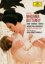 The pathos of this heart-rending story about a sweet-natured Japanese girl and the caddish American naval lieutenant who marries then deserts her has seldom been conveyed with such emotional directness. In his sumptuous filming of Puccini's opera, director Jean-Pierre Ponnelle uses an array of cinematic effects (including a memorable dream sequence) to evoke the protagonists' irreconcilably separate lives and worlds. As Butterfly, Mirella Freni is unbearably moving in one of the finest performances of her career, while Placido Domingo makes Lt. Pinkerton a more sympathetic figure than usual. Opera In Two Acts  Cio-Cio-San (Butterfly) -  Mirella Freni  B. F. Pinkerton -  Placido Domingo  Suzuki -  Christa Ludwig  Sharpless -  Robert Kerns  Goro -  Michel Senechal  Il Bonzo -  Marius Rintzler  Kate Pinkerton -  Elke Schary  Il Principe Yamadori -  Giorgio Stendoro